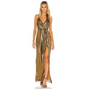 CAMI NYC The Frances Hollywood Gown in Gold Lame